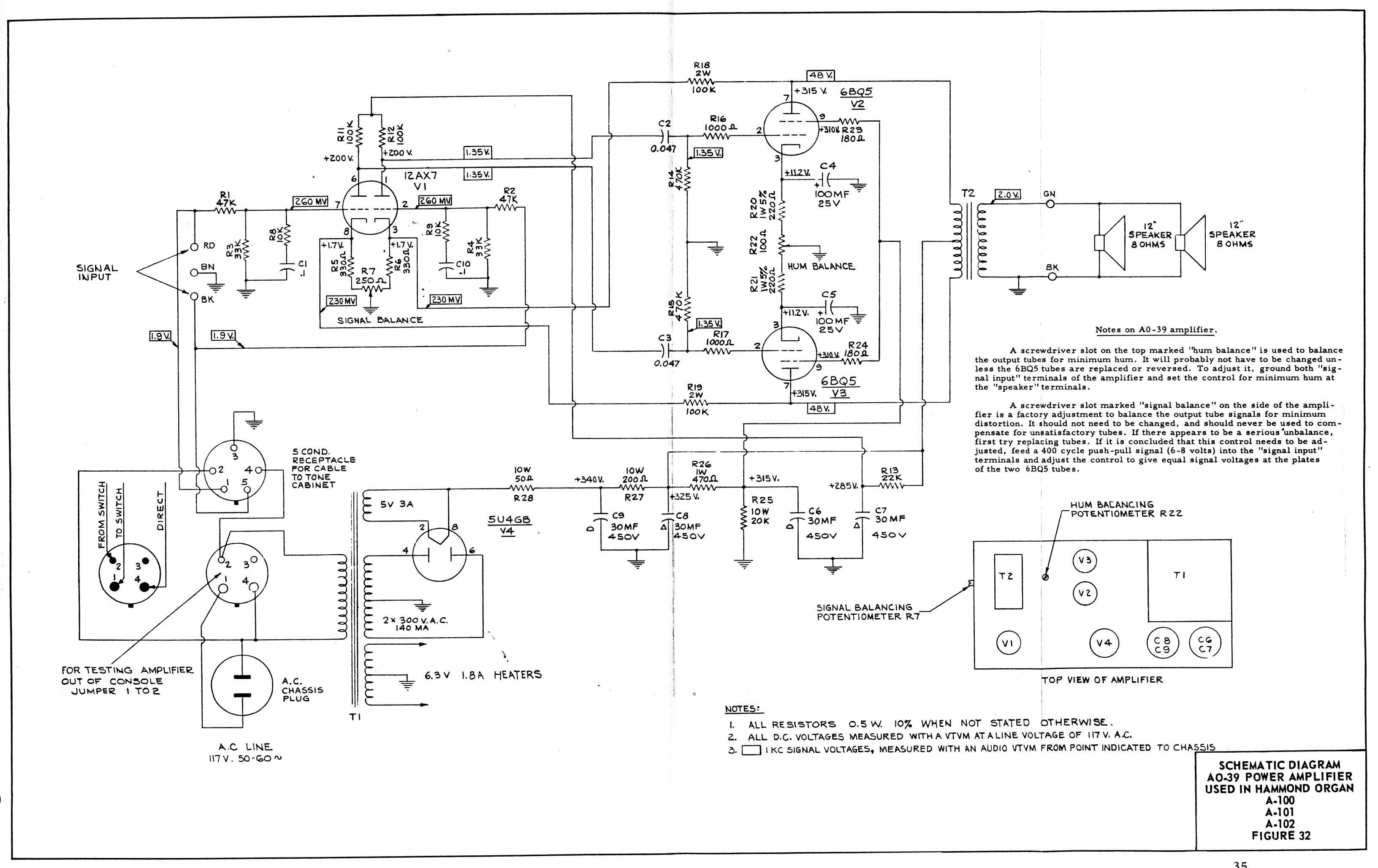 schem3 Hammond Organ S Schematic Diagrams on