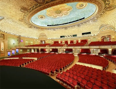 Click here to download a 621 x 480 JPG image showing the rear of the auditorium.