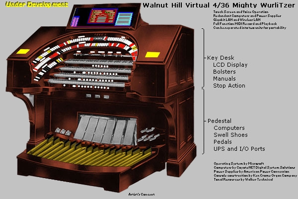 Click here to learn more about the Walnut Hill Virtual 4/36 Mighty WurliTzer Theatre Pipe Organ.