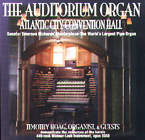 Click here to purchase the CD entitled 'The Auditorium Organ - Atlantic City Convention Hall' featuring Antoni Scott playing Bach's Toccata in D minor.