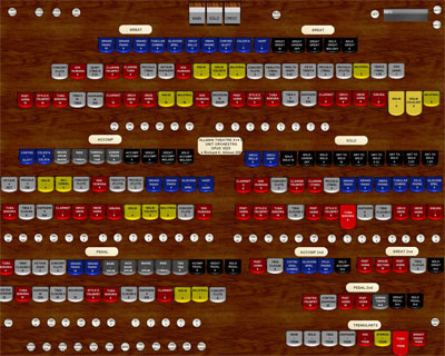 Click here to download a 1280 x 1024 JPG screenshot of the 3/14 Allman Theatre Organ.