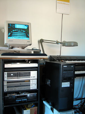 Click here to download a 1944 x 2592 JPG image showing Bob Davidson's new server undergoing final testing.