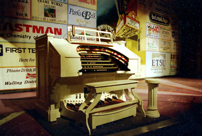 Click here to download a 3836 x 2591 JPG image showing the 3/11 Mighty Kimball/WurliTzer Theatre Pipe Organ on the stage at the Paramount Center for the Arts in Bristol, Tennessee.