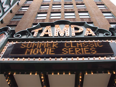 Click here to download a 2592 x 1944 JPG image showing the Tampa Theatre facade and marquee.