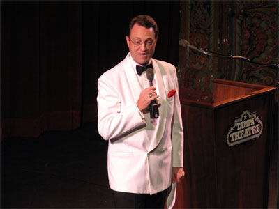 Click here to download a 2502 x 1944 JPG image showing Master of Ceremonies Ken Double opening the Convention.