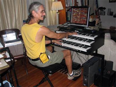Click here to download a 2592 x 1944 JPG image of the Bone Doctor at the Allman 4/54 Symphonic VI Virtual Orchestral Organ installed at Allman Music in Saint Petersburg, Florida.