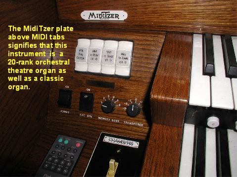 Paul proudly displays the MidiTzer badge on his elaborate setup.