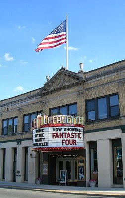 Click here to download a 503 x 800 JPG image showing the entrance to the Lafayette Theatre.