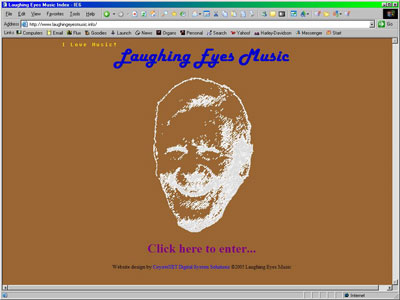 Click here to visit the official website of Laughing Eyes Music, publishers of Tom Hoehn's CD entitled Sounds of Grace.