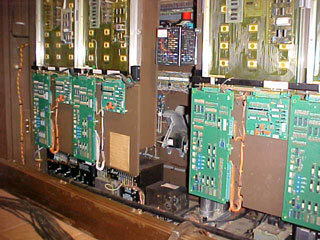 Click here to download a 640 x 480 JPG picture of the inside of the Allen console as it came in 1979.