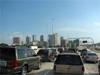 Click here to download a 2592 x 1944 JPG image shoving the Tampa skyline on our way back to Tom's house.