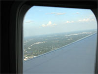 Click here to download a 2592 x 1944 JPG image shoving the city of Tampa far below as we sour upward toward cruise altitude.