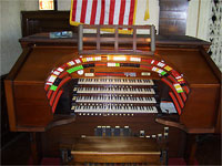 Featured Organ For The Month Of April, 2007 - 4/33 Mighty Mooler Theatre Pipe Organ installed at the New York Military Academy Cadet Chapel.