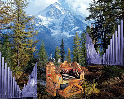 Download Fred Willis' Organ in the Mountains, a 1024x819 Wallpaper featuring the Detroit Senate 4/34 Mighty WurliTzer Theatre Pipe Organ.