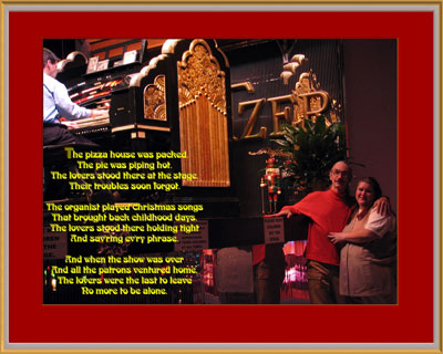 Click here to download a 1600 x 1280 JPG image showing Kimmy and the Bone Doctor at Roaring 20's Pizza and Pipes.