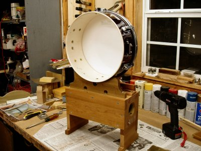 Click here to download a 2560 x 1920 JPG image showing the Snare Drum nearing completion.