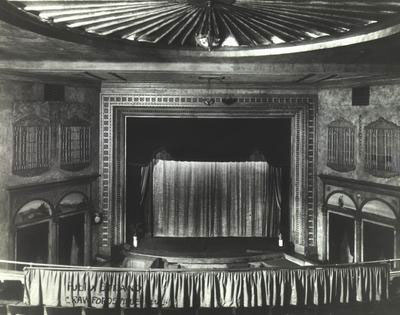 Click here to download a 1950 x 1537 JPG image showing the Strand Theatre, Crawfordsville, Indiana, the original home of the Kilgen Theatre Organ Aaron now owns.