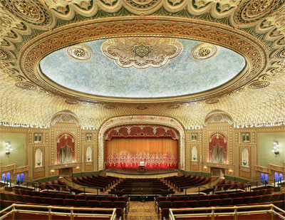 Click here to download a 3300 x 2550 JPG image showing the lavish auditorium of the Tennessee Theatre.
