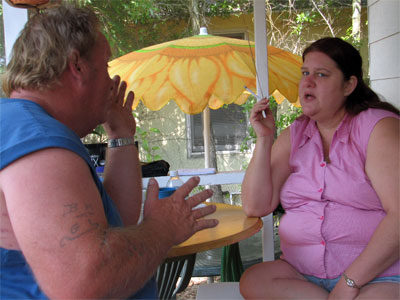 Click here to download a 2592 x 1944 JPG image showing Bob and Kimmy discuss future strategies for Walnut Hill Productions.