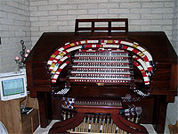 Featured Organ For The Month Of March, 2005 - The 5/36 Mighty WurliTzer installed at the Brown Residence in Phoenix, Arizona.
