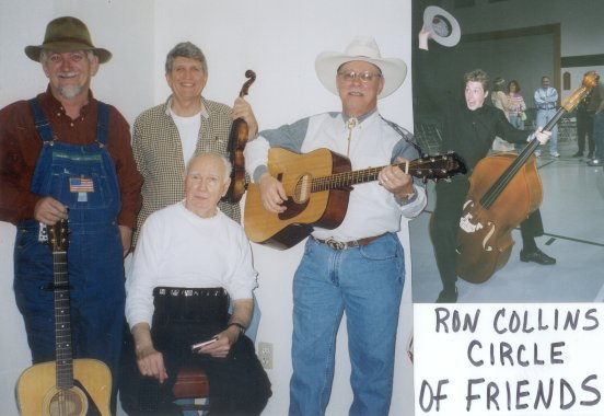 Click here to read the latest news about the Circle of Friends. Ed is on the far left in this picture, his hands resting on his guitar's machine head.