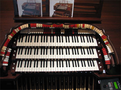 Click here to download a 2592 x 1944 JPG image showing the stop sweep of the Allen 3/12EX Digital Theatre Organ.