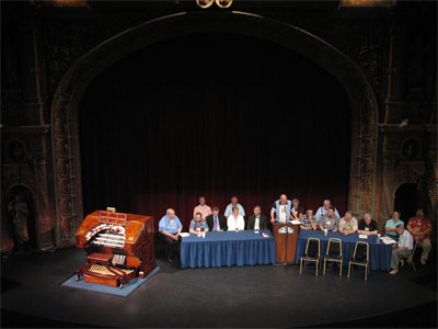 Click here to download a 2592 x 1944 JPG image showing ATOS Board of Directors conviened at the Tampa Theatre during the 51st Annual ATOS Convention of 2006.