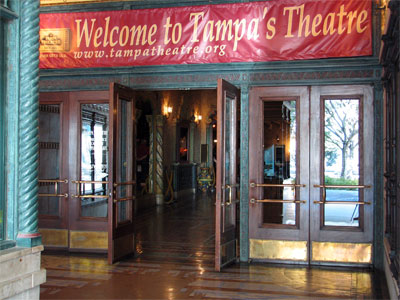 Click here to download a 2592 x 1944 JPG image showing the entrance to the Tampa Theatre.