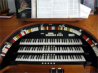 Featured Organ For The Month Of February, 2006 - The 3/14 Devtronix installed at Bob Davidson's residence in Seminole, Florida.