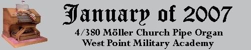 Click here to return to the Featured Organ of the Month page. Scroll down to see the West Point Cadet Chapel's Mighty Moller Church Pipe Organ.