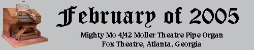 Click here to return to the Featured Organ of the Month main page. Scroll down to learn about and see Mighty Mo, the 4/42 Mighty Moller Theatre Pipe Organ installed at the Fox Theatre, Atlanta, Georgia!