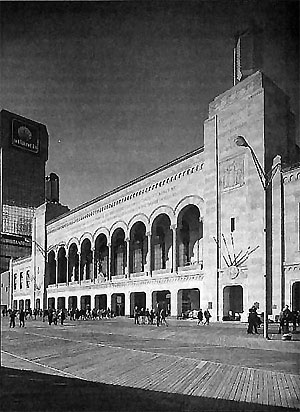 Click here to download a 450 x 618 JPG image showing the entrance to Boardwalk Hall.