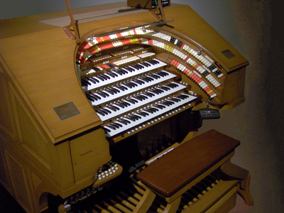 Click here to learn more about the J. Tyson Forker Memorial 4/32 Mighty WurliTzer Theatre Pipe Organ installed at Grace Baptist Church in Sarasota, Florida.