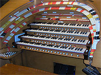 Featured Organ For The Month Of June, 2004 - The J. Tyson Forker Memorial 4/32 WurliTzer at Grace Baptist Church in Sarasota, Florida.