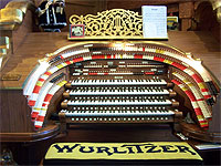 Featured Organ For The Month Of August, 2004 - John Ledwon's 4/52 WurliTzer Theatre Pipe Organ at the Organ House in Agoura, California.