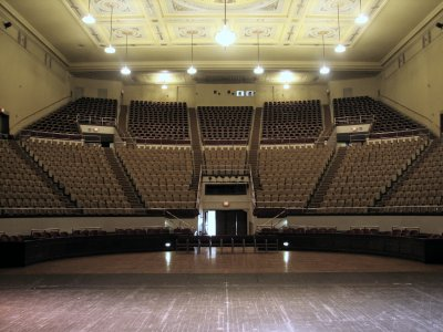 Click here to download a 2592 x 1944 JPG image showing the auditorium as viewed from center stage.