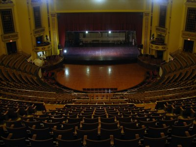 Click here to download a 2592 x 1944 JPG image showing the auditorium as seen from high in the balcony.