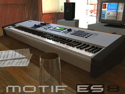 Click here to download a 1024 x 768 JPG image of the Motif ES Digital Synthesizer.