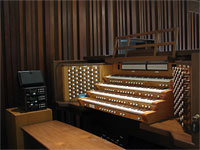 Featured Organ For The Month Of March, 2007 - 4/60 Mighty Allen Digital Church Organ, All Faith Chapel, Ridgecrst, California.