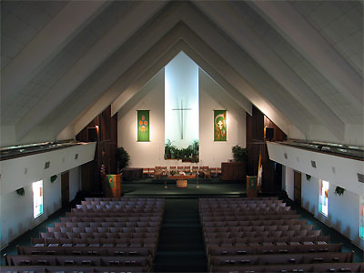 Click here to download a 2592 x 1944 JPG image showing the sanctuary as seen from the balcony.