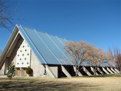 Click here to download a 2592 x 1944 JPG image showing the All Faith Chapel main building.