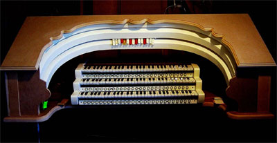 Click here to see Owen Jones' new digital theatre organ console nearing completion.