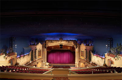 Click here to see a larger picture of the Kendle Kidd Performance Hall at the Plaza Theatre in El Paso, Texas.