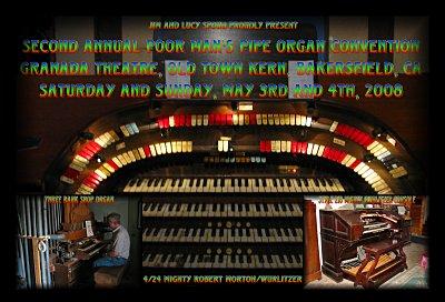 Click here to download a 2790 x 1897 JPG image featuring the console of the Granada Theatre's 4/24 Mighty Robert Morton/WurliTzer Theatre Pipe Organ.