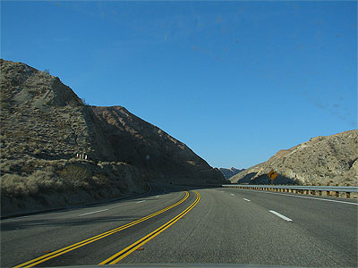 Click here to download a 2592 x 1944 JPG image showing the road leading into Red Rock Canyon on the way home from Palmdale.