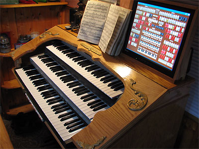 Click here to see the Mighty MidiTzer Style 260 Special Virtual Theatre Pipe Organ installed at Dan Rowland's residence in Akron, Ohio.