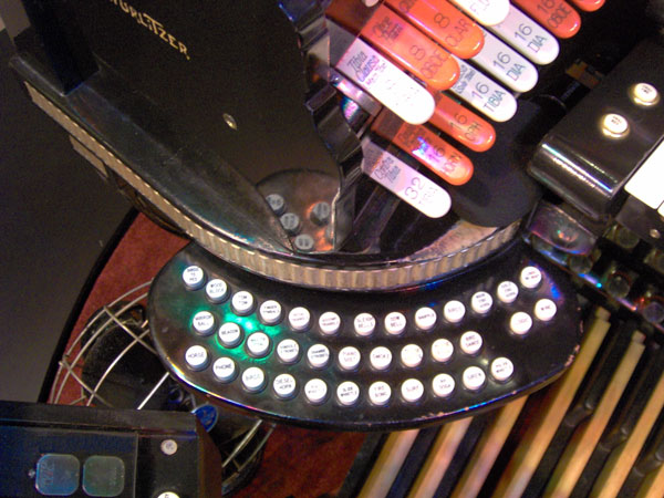 Click here to download a 2048 x 1536 JPG image showing the left swingout that controls the tuned percussions and other features of the 4/42 Mighty WurliTzer Theatre Pipe Organ.