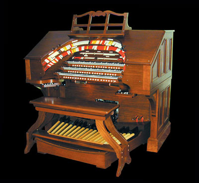 Click here to visit the Walker Theatre Organ Company, makers of this RTO-351 Digital Theatre Pipe Organ.