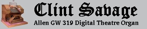 Download a Windows Desktop Wallpaper featuring Clint Savage's Allen GW-319 Digital Theatre Organ.