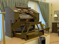 Featured Organ For The Month Of November, 2006 - Mighty Allen 3/17EX installed at the Woodlands Retirement Community, Sheelpoint, Florida.